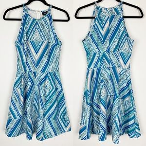 🌷MOSSIMO Stripe Fit Flare Sleeveless Halter Dress